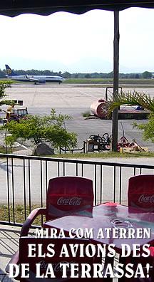 Terrassa Mirador de l'Aeroport Girona